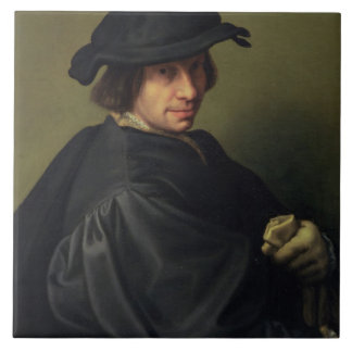 Portrait of Galeazzo Campi (1475-1536) the Artist' Large Square Tile
