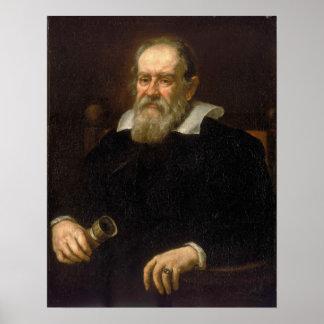 Portrait of Galileo Galilei by Justus Sustermans Poster