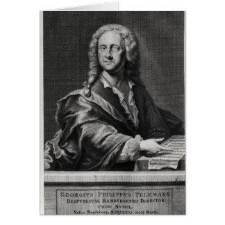 Portrait of Georg Philipp Telemann Card
