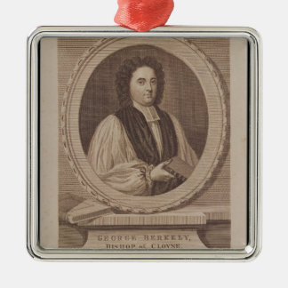 Portrait of George Berkeley  Bishop Metal Ornament
