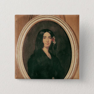 Portrait of George Sand 15 Cm Square Badge
