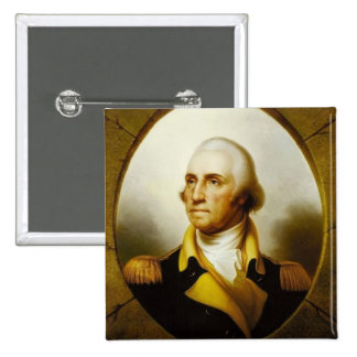 Portrait of George Washington 15 Cm Square Badge