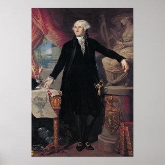 Portrait of George Washington, 1796 Poster