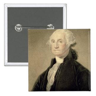Portrait of George Washington, engraved by William 15 Cm Square Badge
