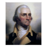 Portrait of George Washington Print