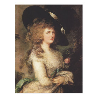 Portrait of Georgiana by Thomas Gainsborough Postcard