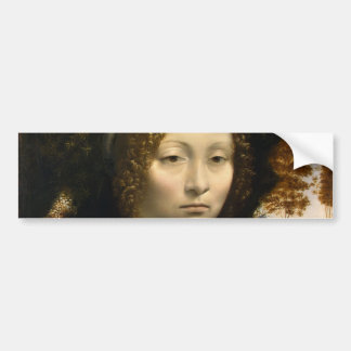 Portrait of Ginevra de Benci by Leonardo da Vinci Bumper Stickers