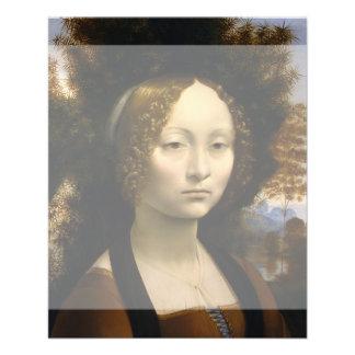 Portrait of Ginevra de Benci by Leonardo da Vinci Full Color Flyer