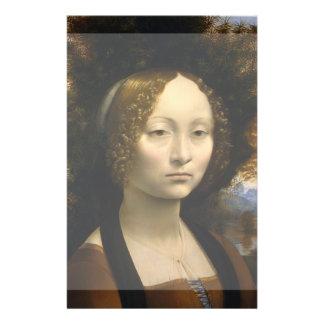 Portrait of Ginevra de Benci by Leonardo da Vinci Personalized Flyer
