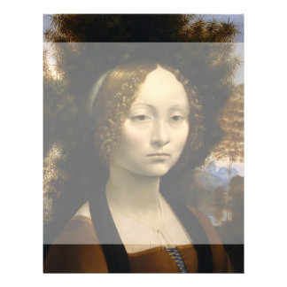 Portrait of Ginevra de Benci by Leonardo da Vinci Custom Flyer