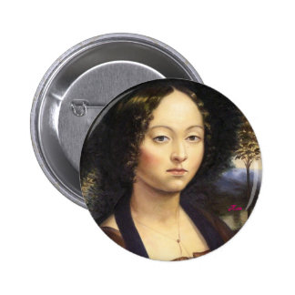"""Portrait of Ginevra de Benci""-reproduction 6 Cm Round Badge"