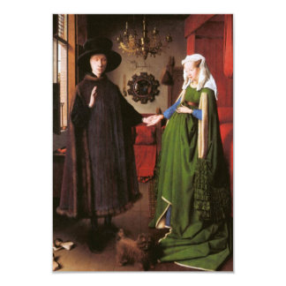 Portrait of Giovanni Arnolfini and his Wife 9 Cm X 13 Cm Invitation Card
