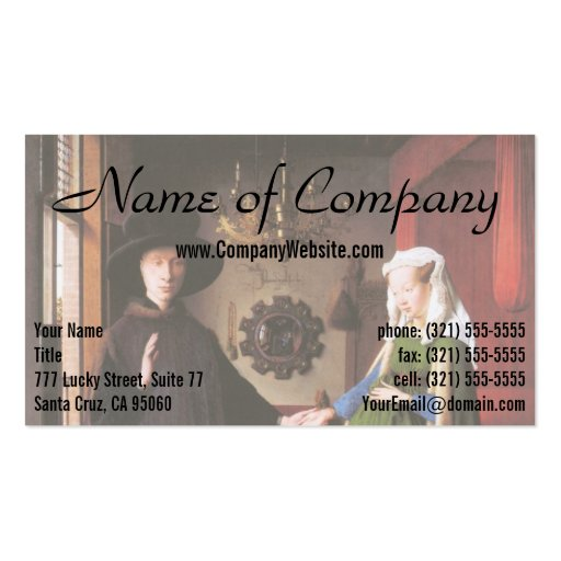 Portrait of Giovanni Arnolfini and his Wife Business Card