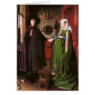 Portrait of Giovanni Arnolfini and his Wife Note Card