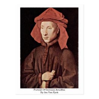 Portrait Of Giovanni Arnolfini By Jan Van Eyck Postcard