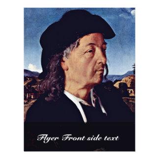 Portrait Of Giuliano Da Sangallo. By Piero Di Cosi 21.5 Cm X 28 Cm Flyer