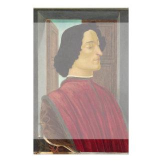 Portrait of Giuliano de Medici by Botticelli Full Color Flyer