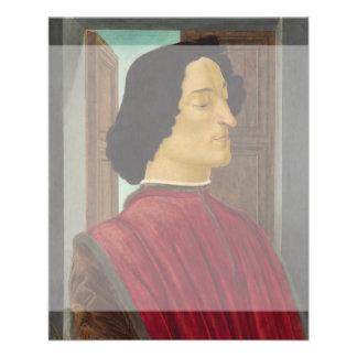 Portrait of Giuliano de Medici by Botticelli Flyers