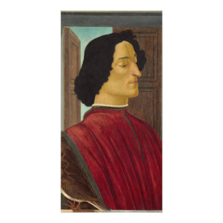 Portrait of Giuliano de Medici by Botticelli Customized Photo Card