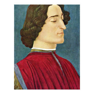 Portrait Of Giuliano De 'Medici By Botticelli Sand 21.5 Cm X 28 Cm Flyer