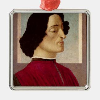 Portrait of Giuliano de' Medici  c.1480 Silver-Colored Square Decoration