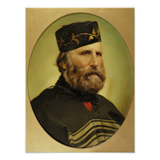 Portrait of Giuseppe Garibaldi Poster
