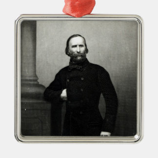 Portrait of Giuseppe Garibaldi Silver-Colored Square Decoration