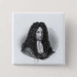 Portrait of Gottfried Wilhelm  Baron de Leibniz 15 Cm Square Badge