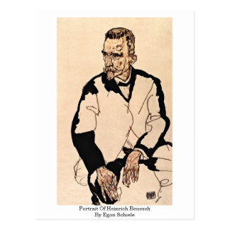 Portrait Of Heinrich Benesch By Egon Schiele Postcard