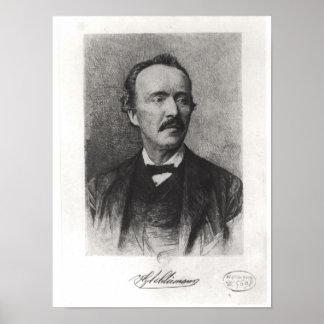 Portrait of Heinrich Schliemann Print