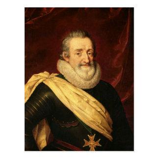 Portrait of Henri IV  King of France Postcard