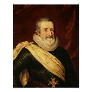 Portrait of Henri IV  King of France Poster