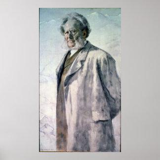 Portrait of Henrik Ibsen, 1895 Poster