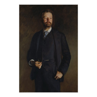 Portrait of Henry Cabot Lodge by JS Sargent Poster
