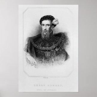 Portrait of Henry Howard  Earl of Surrey Print