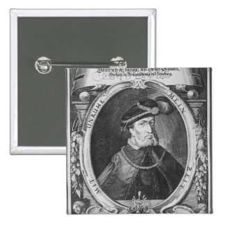 Portrait of Henry the Younger 15 Cm Square Badge