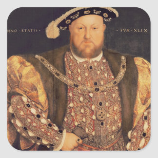 Portrait of Henry VIII  aged 49, 1540 Square Sticker