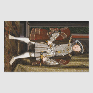 Portrait of Henry VIII by Hans Holbein the Younger Rectangular Sticker