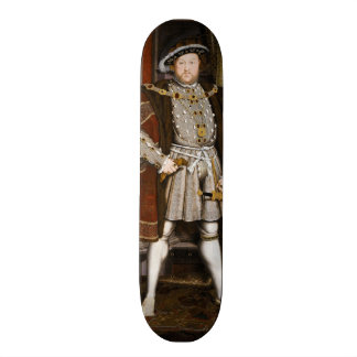 Portrait of Henry VIII by Hans Holbein the Younger Skate Board Deck
