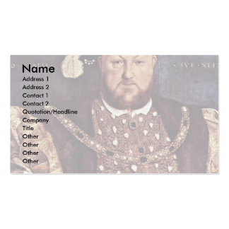 Portrait Of Henry Viii Of England Business Card Templates