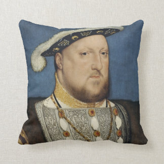 Portrait of Henry VIII of England by Hans Holbein Cushion