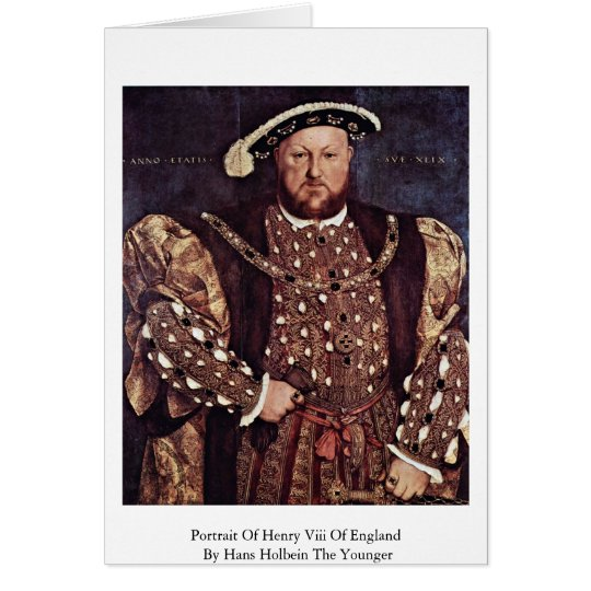 Portrait Of Henry Viii Of England Card