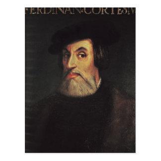 Portrait of Hernando Cortes Postcard