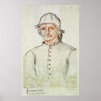 Portrait of Hieronymus Bosch Poster