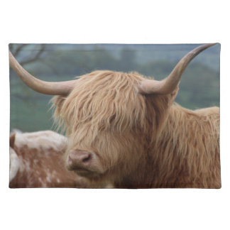 portrait of Highland Cattle Placemat