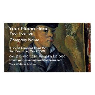 Portrait Of His Son, Paul Cézanne By Paul Cézanne Business Card Template