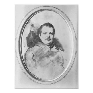 Portrait of Honore de Balzac  c.1820 Posters