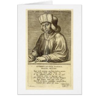Portrait of Hubert van Eyck (1366-1426) plate 1 fr Card