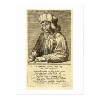 Portrait of Hubert van Eyck (1366-1426) plate 1 fr Postcard