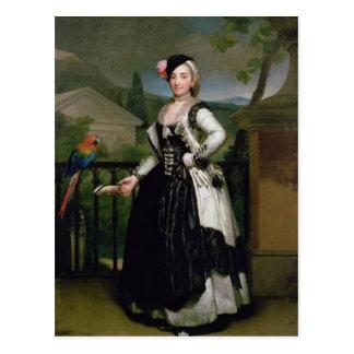 Portrait of Isabel Parrena Arce Postcard